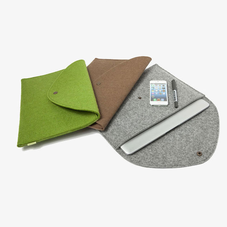 Fashional aangepaste maten notebooktas voelde laptop sleeve case voor Tablet