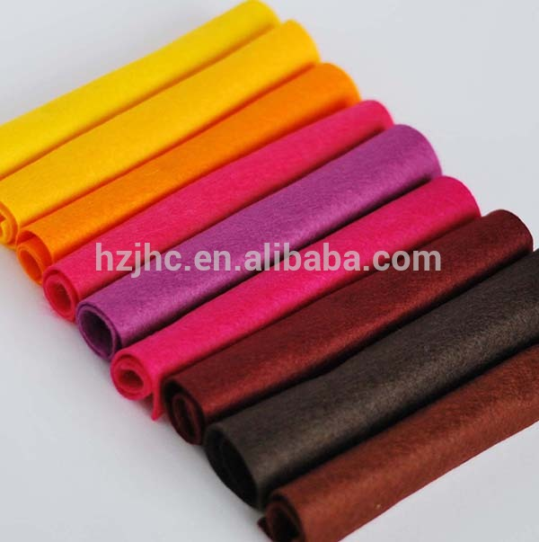 Coloured polyester needle nonwoven felt home textile fabric roll
