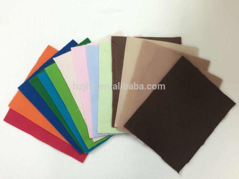 agulla JHC sentida adhesivo suave apoiado feltro de poliéster material de tecido brillo