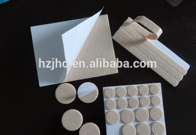 Self adhesive nonwoven polyester needle punch furniture felt pads