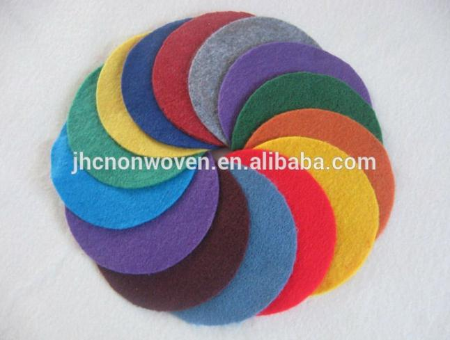 Plain colored nonwoven polyester felt fabric used make flower coaster