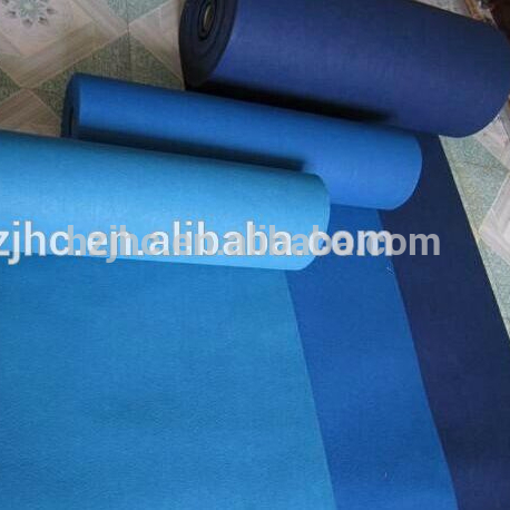 Needle punched plain nonwoven felt roll mat