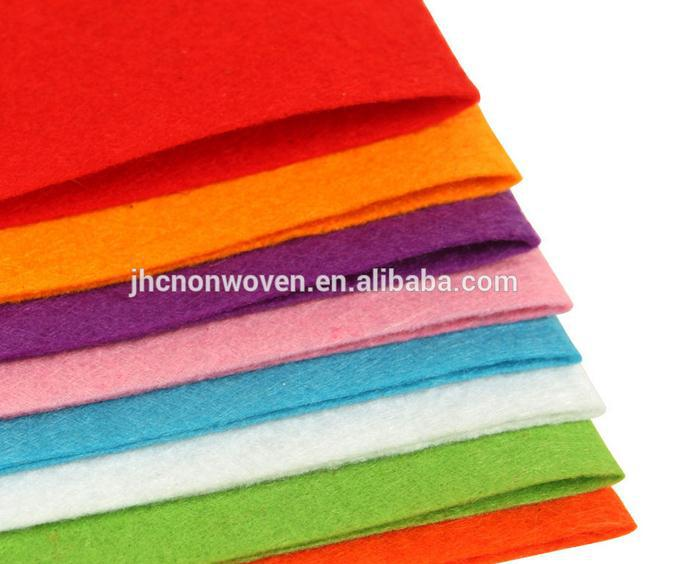 Colorful pp / pet polyester needle punch nonwoven craft felt liner paper