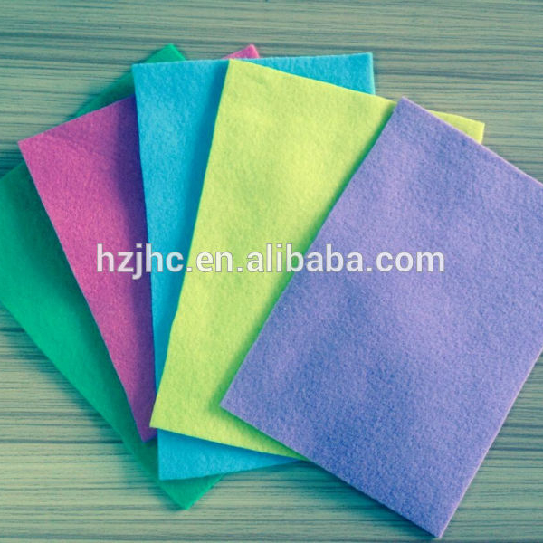 Colorful polyester non woven needle punched felt