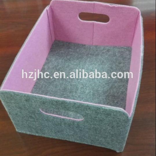 Kleurrijke OEM polyester niet geweven stof opvouwbare opbergdoos gevoeld