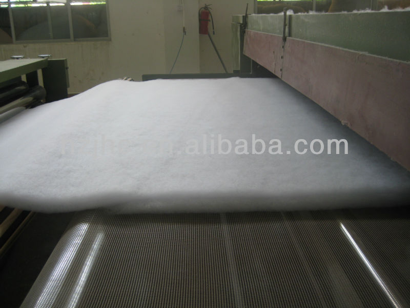 Eco-friendly thermal bonded polyester fiber padding/quilt batting for mattress
