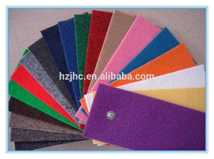 Hot sale direct factory high quality nonwoven felt fabric for auto carpet in roll