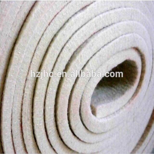 Needle Punched Technical Polyester Non Woven Mattress Felt Fabric