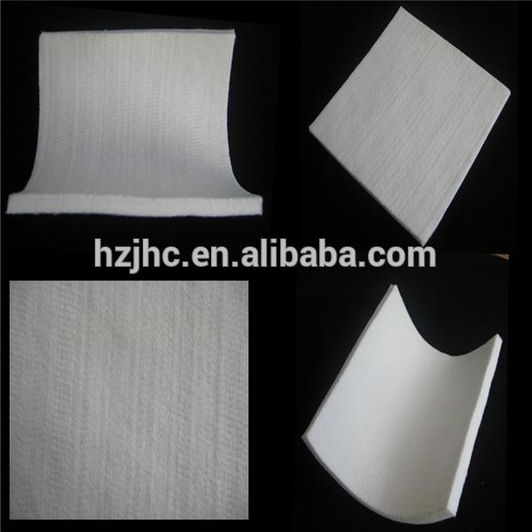 Hot shes gjilpërë grushta përforcuar 100% fije mëndafshi fije nonwoven pëlhurë