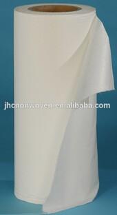 Alibaba China White Plain Spunlace Non Woven Fabric Roll
