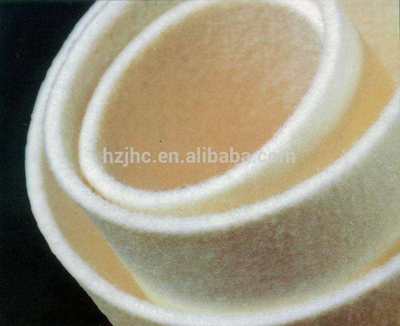 Industrial needle punched hard wool felt fabric used make rings