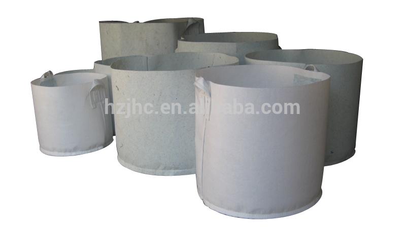 Breathable nonwoven polypropylene felt making plant grow bag