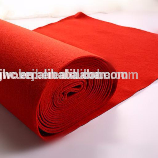 Needle punched polyester plain exhibition carpet