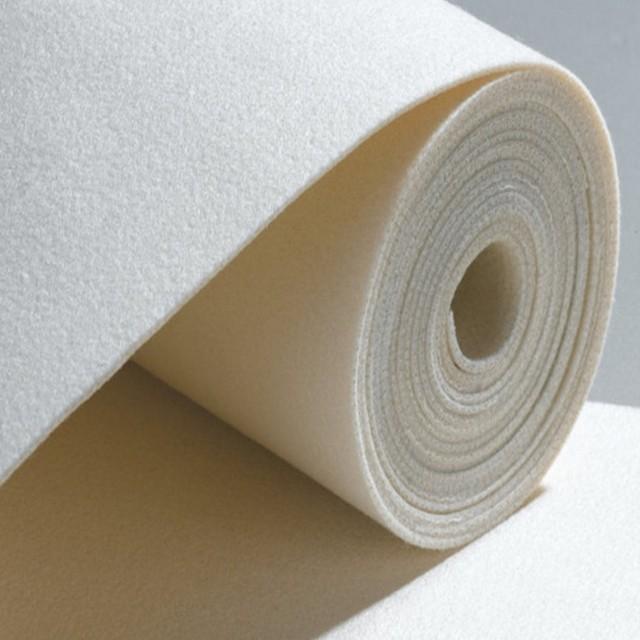 Biela polyesterová samohasiace vpichovaním netkanej priemyselnú plsť