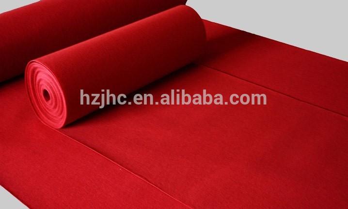 Polyesterikuitua matto värjäämistä Tausta kankaalla näyttely matto