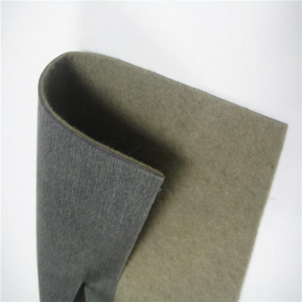 Flame retardant non-woven car interior fabric