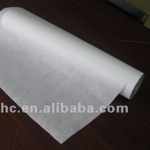 Nonwoven embroidery backing paper
