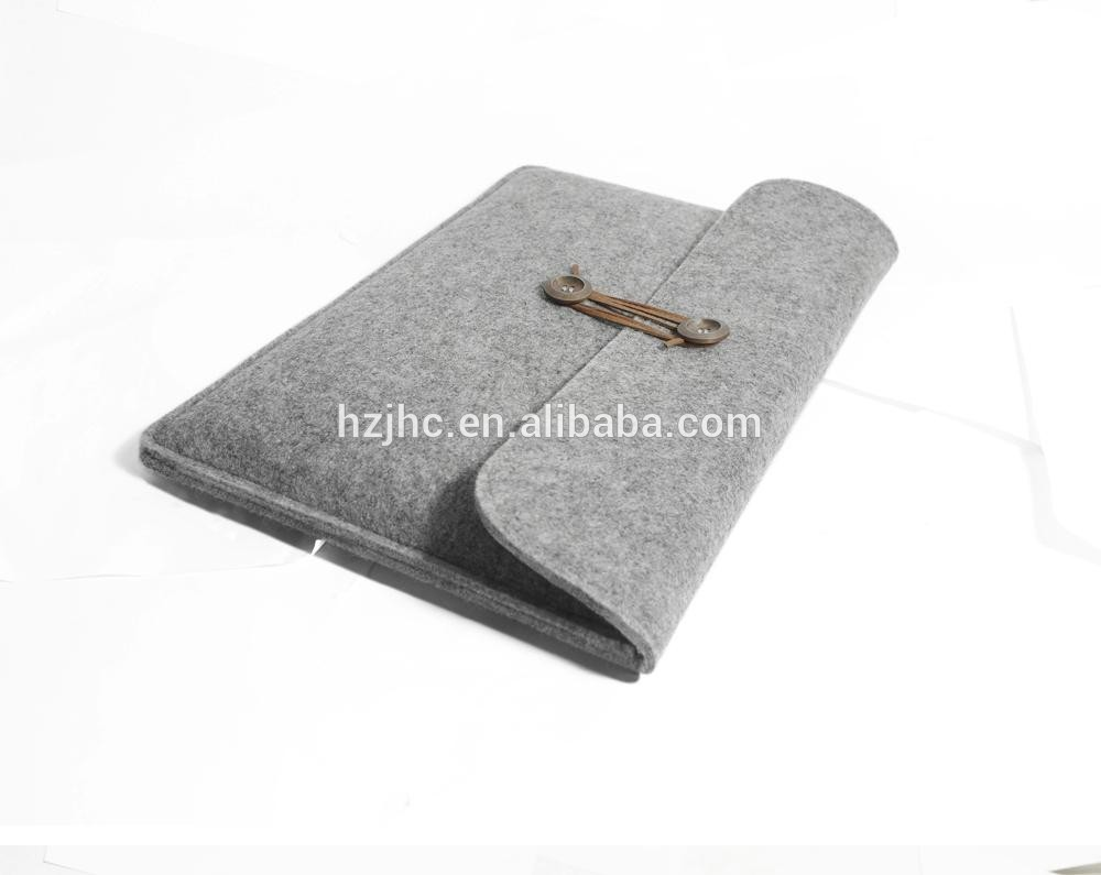 Plain polyester needle punched nonwoven felt sleeve bag making materials Featured Image
