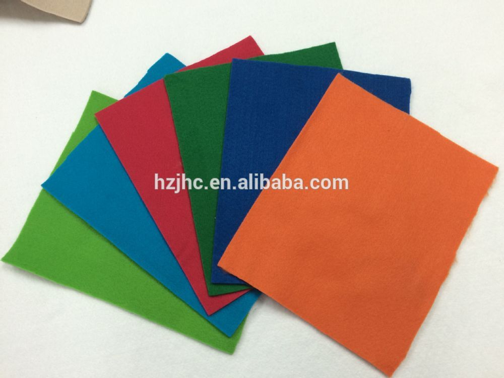 Nonwoven wool handmade felt used shopping bag with hand sewing