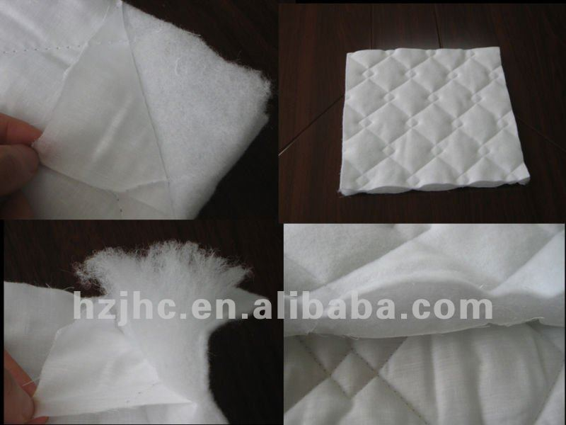 Fireproof thermal bonded polyester quilt cotton batting