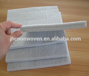 Polyester needle punch nonwoven hard felt sheet of mattress material