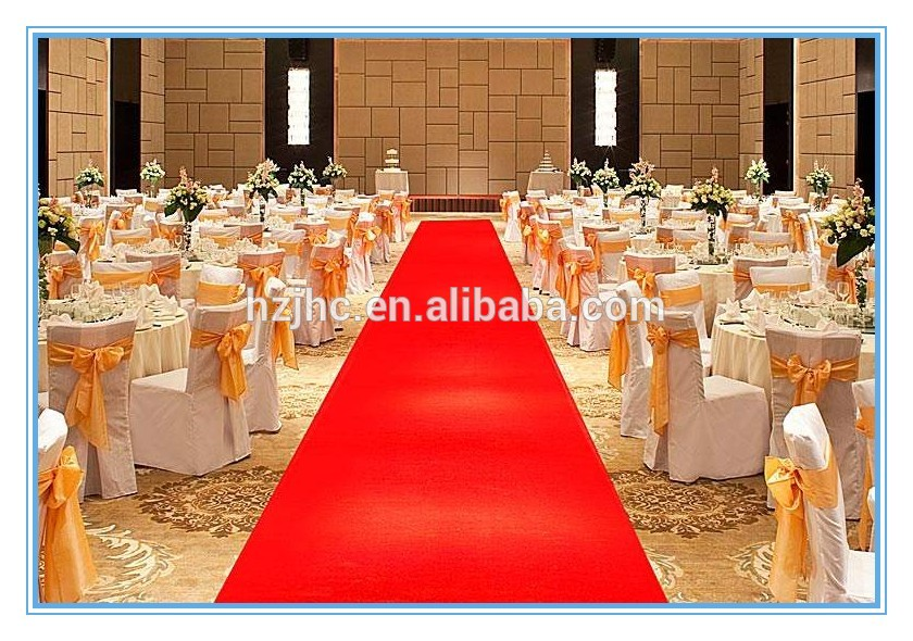 Nonwoven needle punched exhibition red carpet for wedding decoration