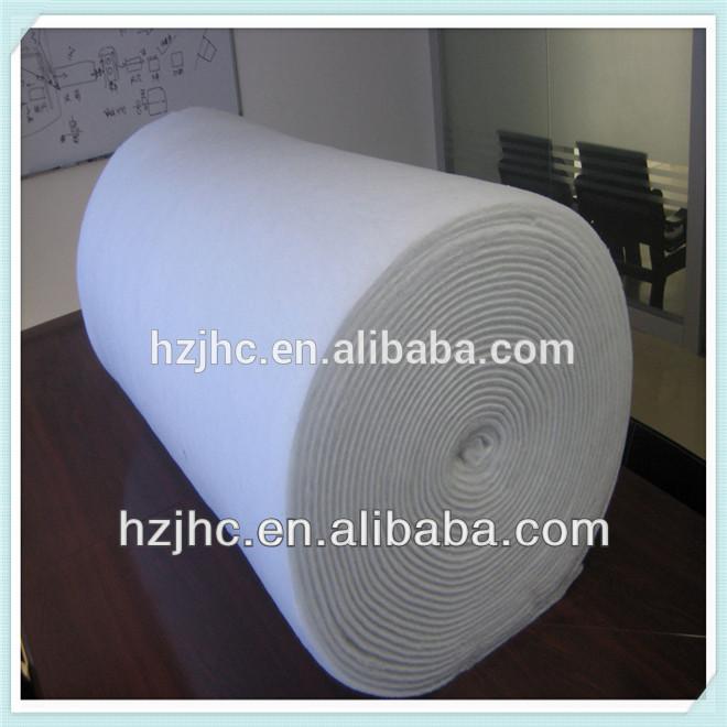 Nonwoven plain polyester silk wool blend carpet