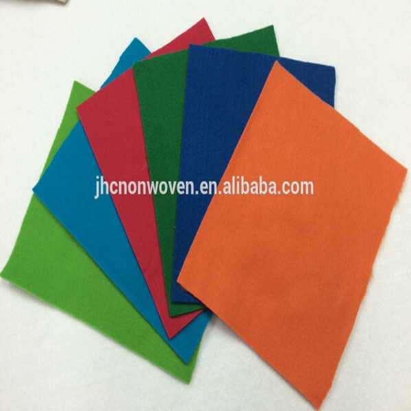 China plain needle punch non-woven polyester felt fabric rolls/sheets wholesale