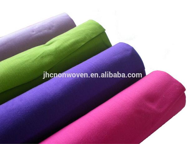 Brugerdefinerede trykt polyeater klæbemiddel fiberdug væg dekoration stof