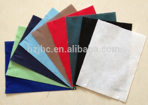 JHC high quality adhesive polyester stiff felt with cheap price