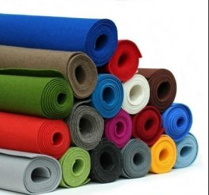 Needle punched non woven felt fabric rolls