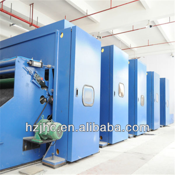 Non-woven needle punched geotextile production line/non woven fabric making machines/nonwoven