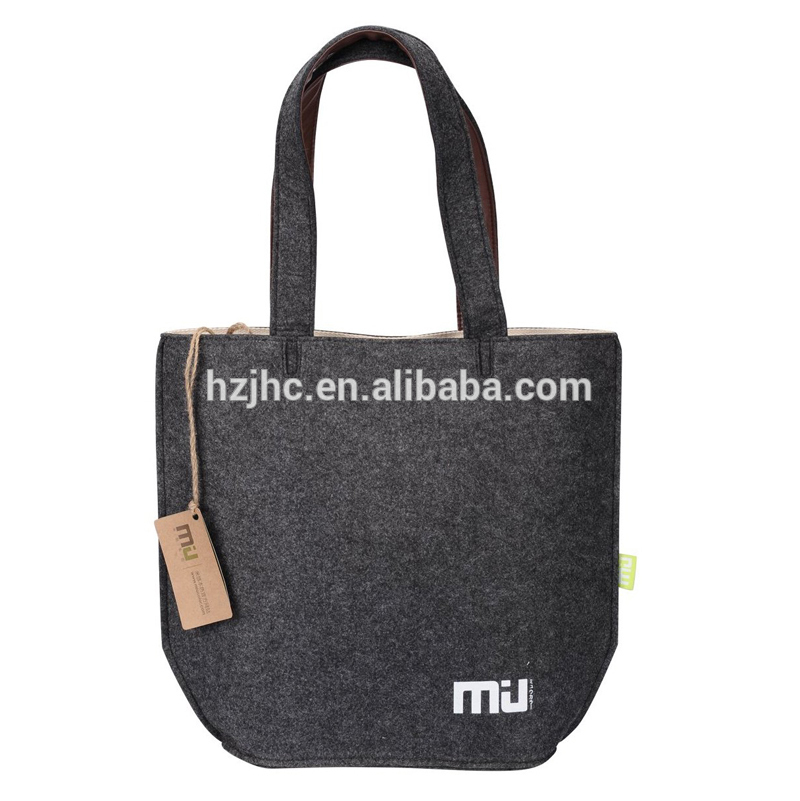 Cheap printed polyester grey needle felt used shopping bag