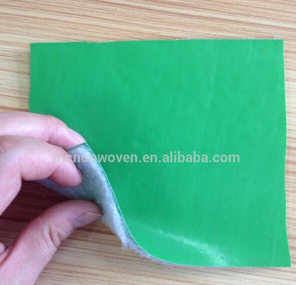 Laminated PE / PVC film backing polyester non-woven felt floor mat fabric