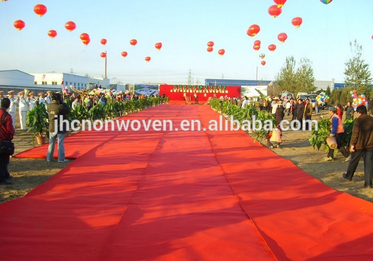 wedding red carpet with polyester material