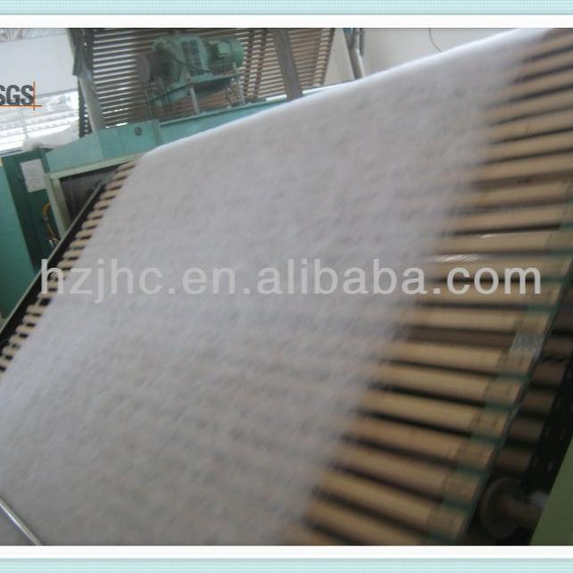 hot air throughPET Nonwoven Fabric Roll 100% Polyester Spunbond Nonwoven