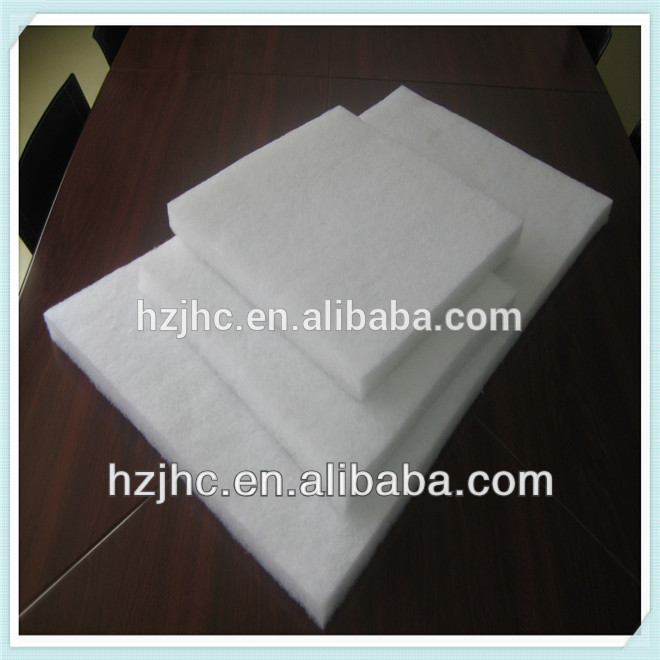 Thermal bonded/hot air through foam padding for clothing