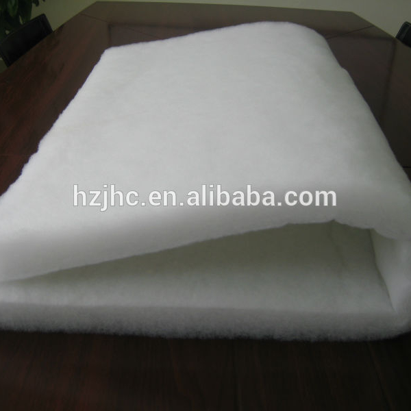 Thermal bonded silk/wool/polyester/organic cotton wadding/batting/padding fabric for quilt/jacket/overall