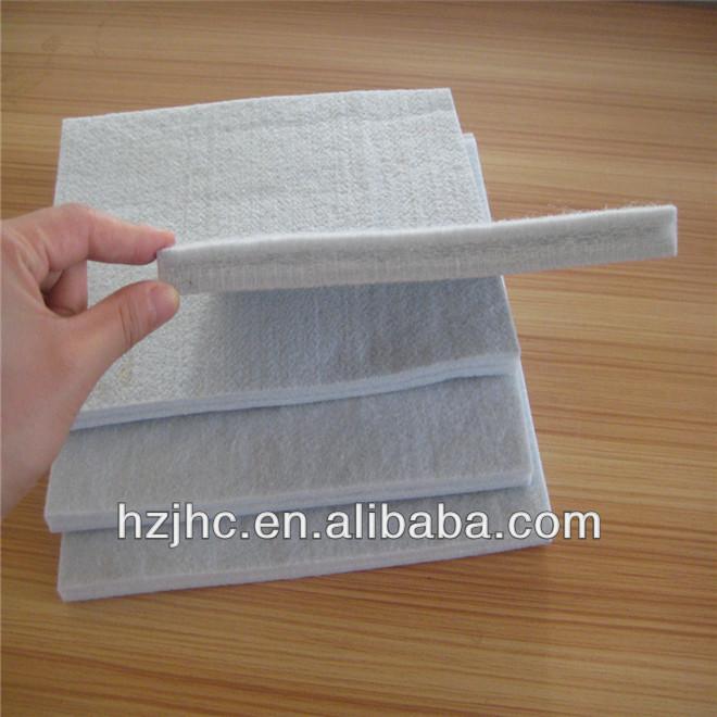 Gwastraff polyester ailgylchu nodwydd punch teimlo fatres nonwoven pad