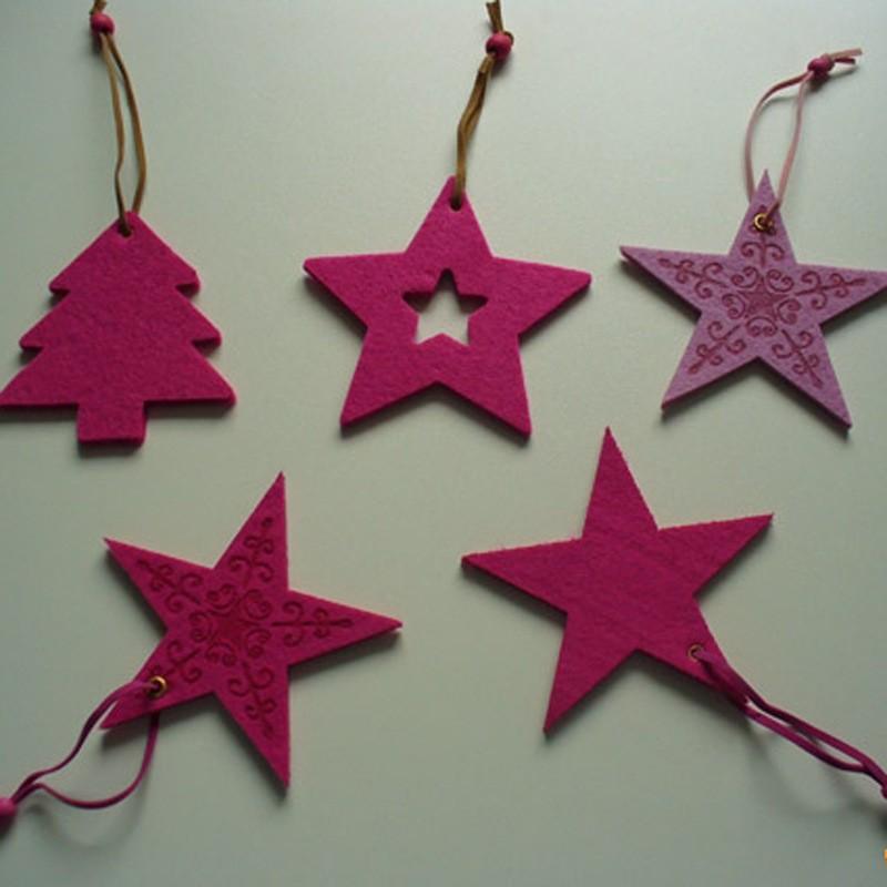 Colored polyester needle fielde foar Christmas handmade decoratie craft