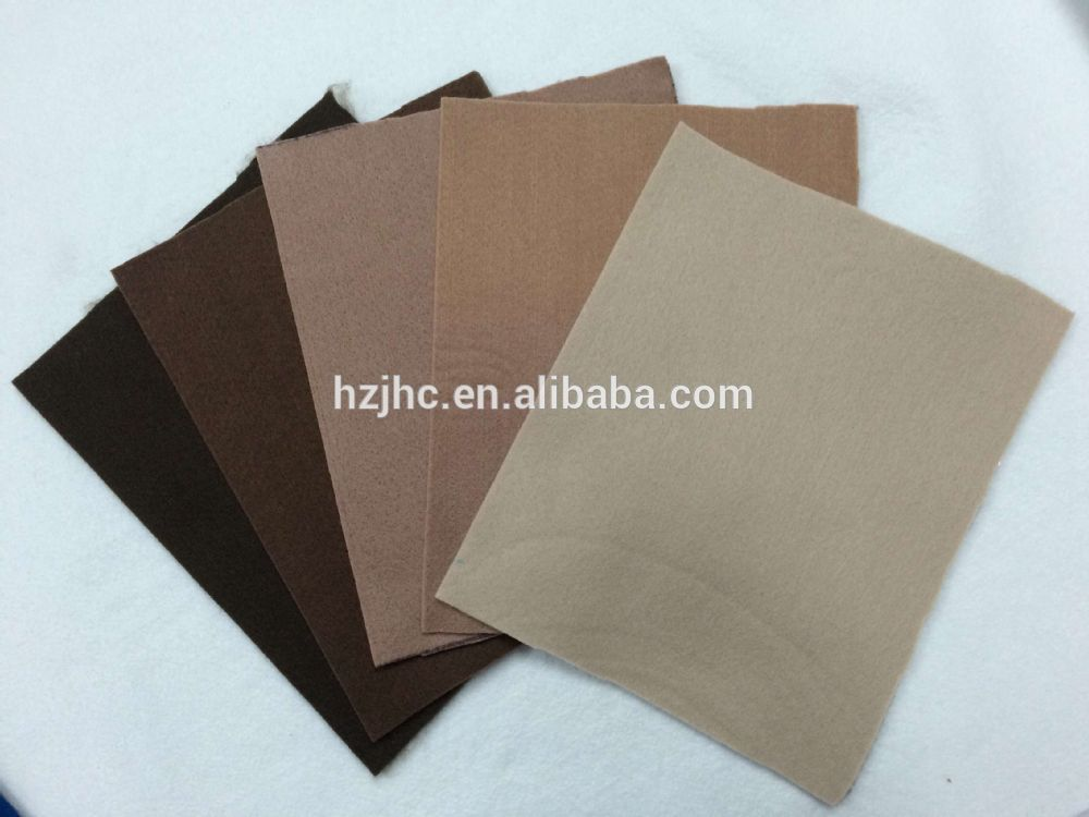 Needle punched nonwoven wool felt for notebook cover