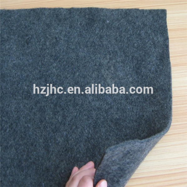 Acoustic sound absorbing nonwoven needle felt fabric for speakers