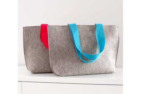 Custom cheap polyester hand made non woven felt shopping bag price