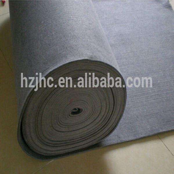 Wholesale plain nonwoven polyester hurde nulle felt shoe pad lining materiaal