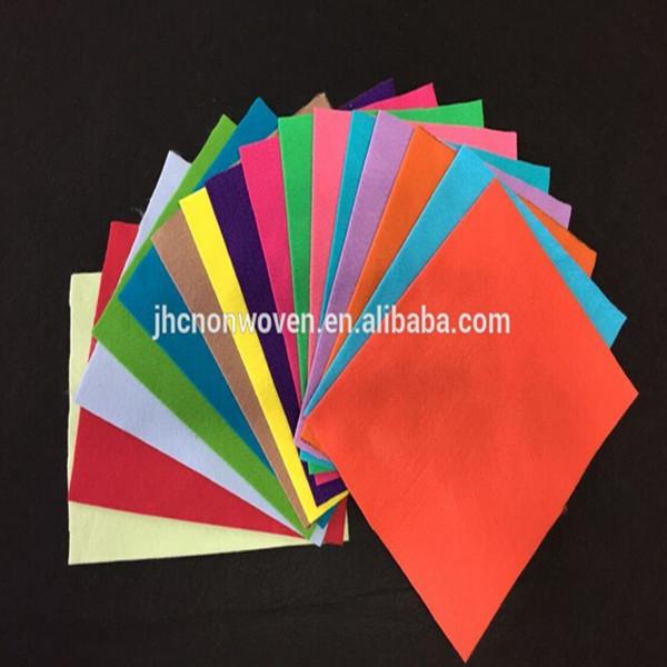 Poliestera krāsas neaustiem adatu perforēts rokām DIY amatniecības jūtama papīra lapas