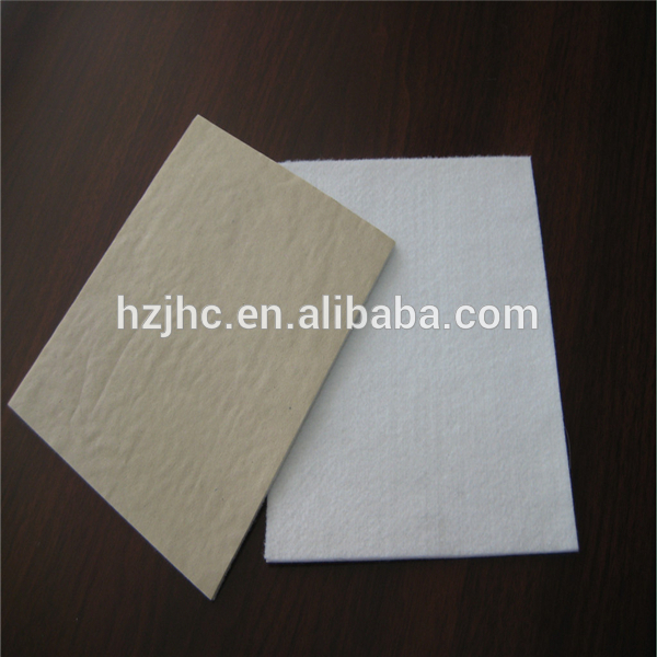 Self adhesive backed nonwoven felt fabric