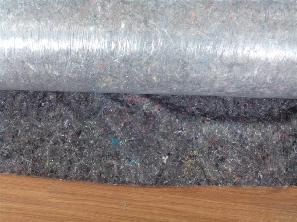 vedenpitävä romu pad / floorprotectio n huopa anti-slip PE tausta matto / polyesteri kuitukangas PE
