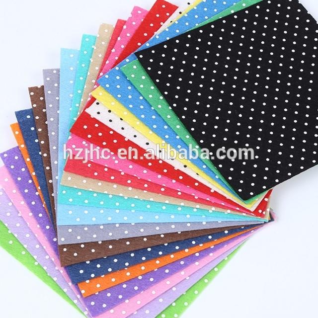 Wholesale Needle Punched Felt Nonwoven Fabric Printed Felt Fabric