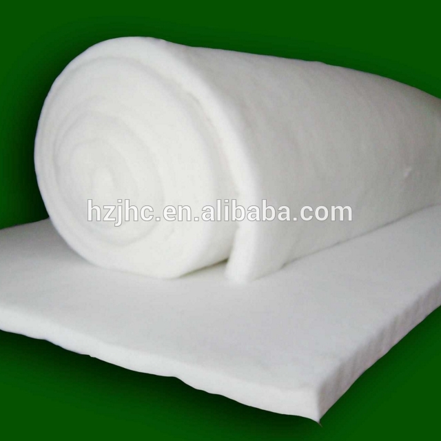 Wholesale Nonwoven Fireproof Fabric Fireproof Non-glue Cotton Batting With Thermal Bonding