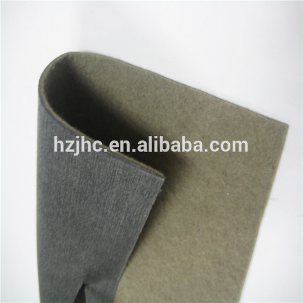 Polyester needle punched nonwoven auto carpet felt fabric